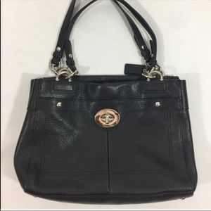 Coach Leather Black Tote Bag